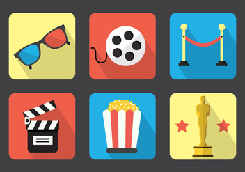 Movie Vector Icons - vector gratuit #364777