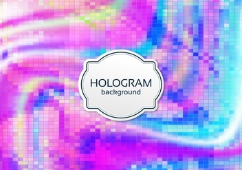 Free Vector Digital Hologram Background - Free vector #364797
