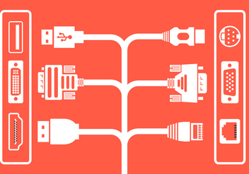 Vector Cable Plugs - vector gratuit #364807