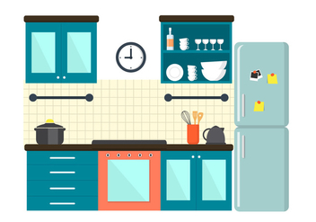 Free Kitchen Illustration - vector gratuit #364817