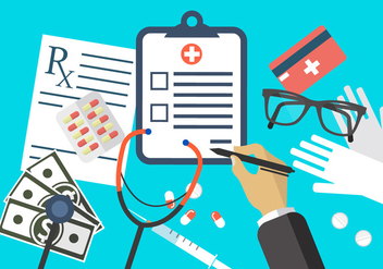 Flat Medical Illustrations - Free vector #364827