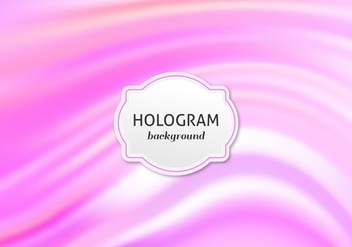 Free Vector Bright Pink Hologram Background - Kostenloses vector #364837
