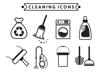 Cleaning Vector Icons - Free vector #364847