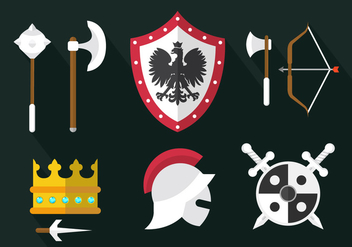Medieval Weapon Vectors - Free vector #364877