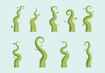 Free Beanstalk Vector Illustration - Free vector #364997