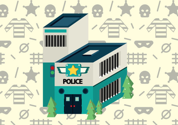 Free Police Office Isometric Vector - Free vector #365037