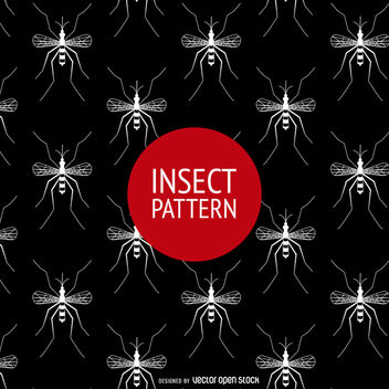 Seamless mosquito pattern - vector gratuit #365047