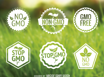 No GMO label set - vector #365067 gratis