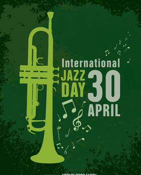 April 30th International Jazz Day - vector gratuit #365187