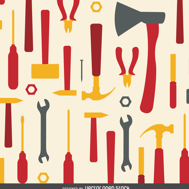 Working tools pattern - Free vector #365207