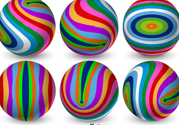 Vector Colorful 3D Spheres - vector gratuit #365297