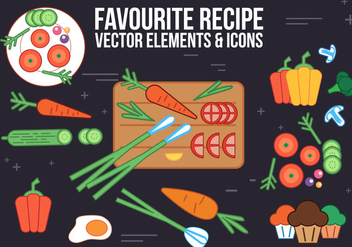 Free Recipe Vector Elements and Icons - Kostenloses vector #365307