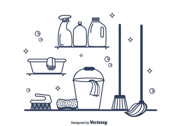 Spring Cleaning Vector - Free vector #365337