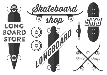 Free Skateboard and Longboard Vector Emblems - бесплатный vector #365387