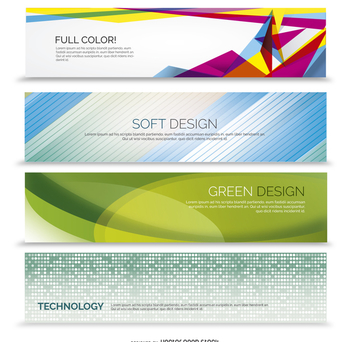 Abstract banner set - Free vector #365477
