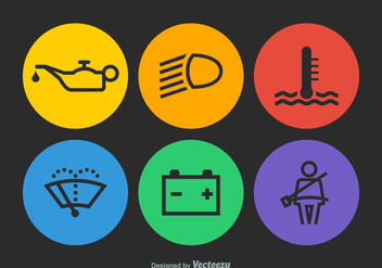 Free Vector Car Dashboard Icons - бесплатный vector #365557