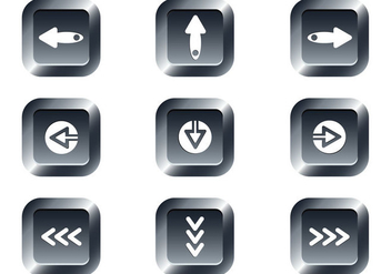Free Web Buttons Set 15 Vector - Kostenloses vector #365627