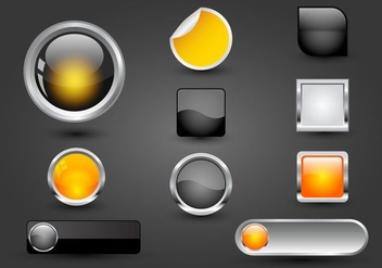 Free Web Buttons Set 05 Vector - Kostenloses vector #365687