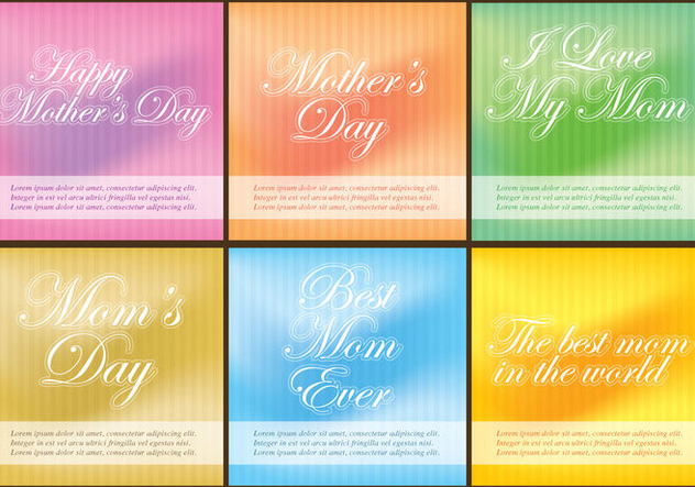 Mothers Day Templates - vector gratuit #365787