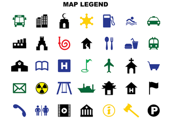 Free Map Legend Vector - vector #365807 gratis