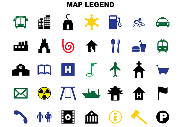 Free Map Legend Vector - vector gratuit #365807