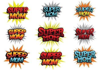 Free Super Mom Vector - vector gratuit #365827