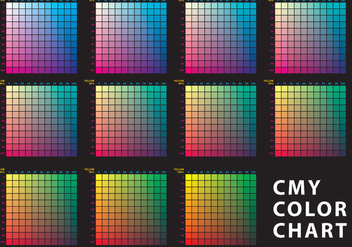 CMY Color Chart - Free vector #365837