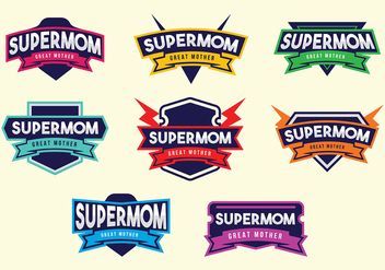 Free Supermom Badge Vectors - vector gratuit #365847
