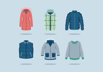 FREE WINTER COAT VECTOR - vector gratuit #365917