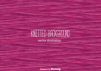 Pink Knitted Background Vector - vector gratuit #366107