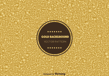 Gold Bubble Background Vector - vector #366157 gratis