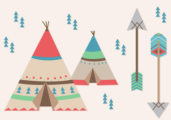 Tipi Elements - vector #366217 gratis