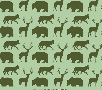Animals silhouette pattern - бесплатный vector #366237