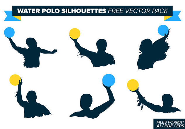 Water Polo Silhouettes Free Vector Pack - Free vector #366267