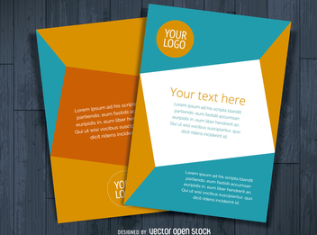 Multiple flyer template - vector gratuit #366327