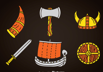 Barbarian Element Icons - vector #366387 gratis