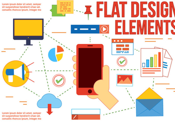 Free Flat Design Vector Elements and icons - Free vector #366407