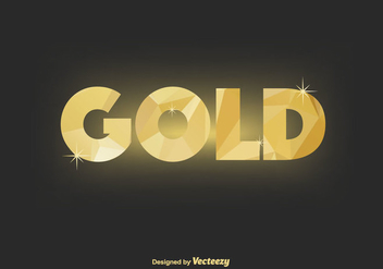 Gold Vector Background - vector #366417 gratis