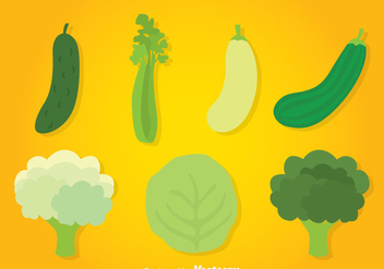 Vegetables Collection Vector - Kostenloses vector #366437