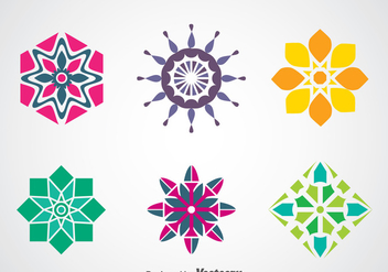 Colorful Logo Template Vectors - бесплатный vector #366447