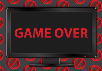 Free Game Over TV Vector - vector #366587 gratis