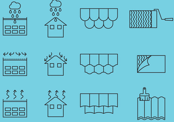 Roof Repair Icons - vector #366767 gratis