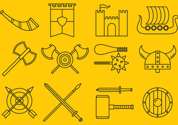 Barbarian Icons - vector gratuit #366867
