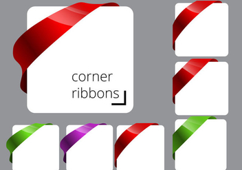Free Corner Ribbon Vectors - бесплатный vector #366917