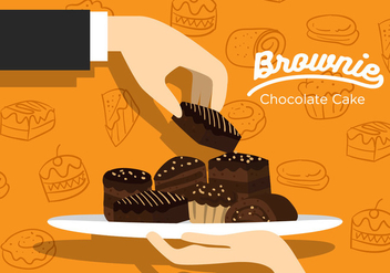 Brownie Vector - Free vector #366947