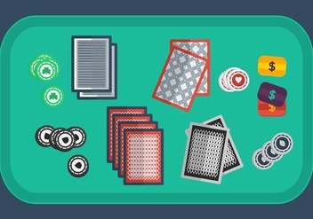 Poker Card Vector Set - Free vector #366987