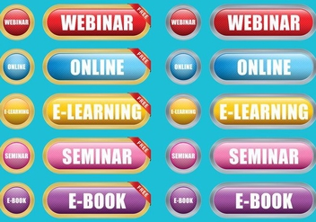 E Learning Buttons - vector gratuit #366997