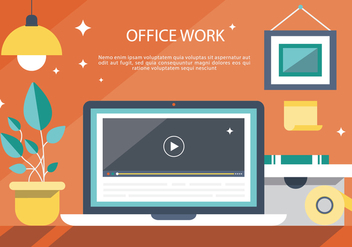 Free Modern Office Interior Vector Background - Free vector #367067