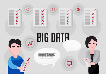 Free Big Data Vector Illustration - Free vector #367097