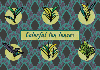 Free Various Tea Leaves Vector Background - Free vector #367107